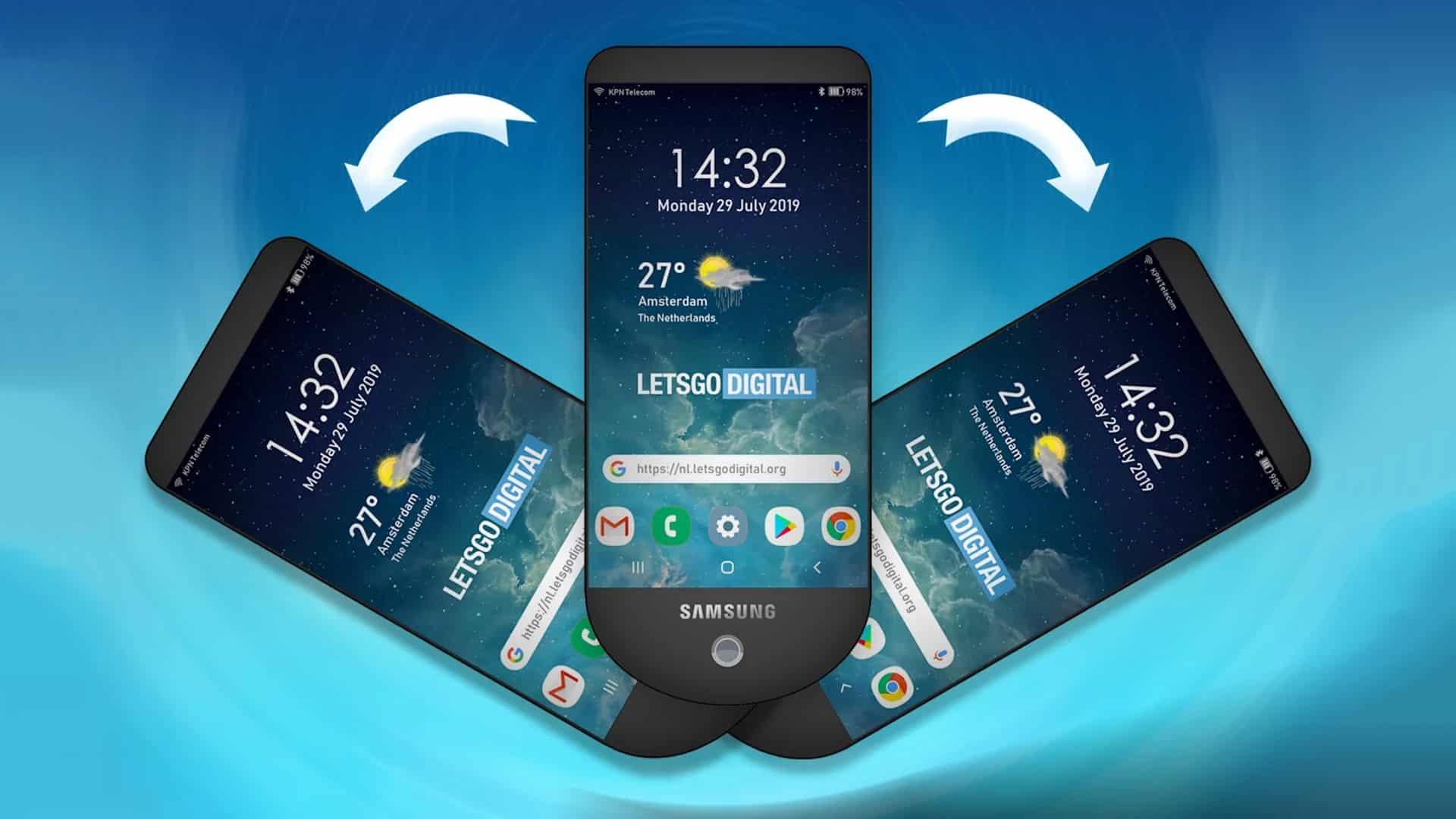 Smartfón s trojitým displejom