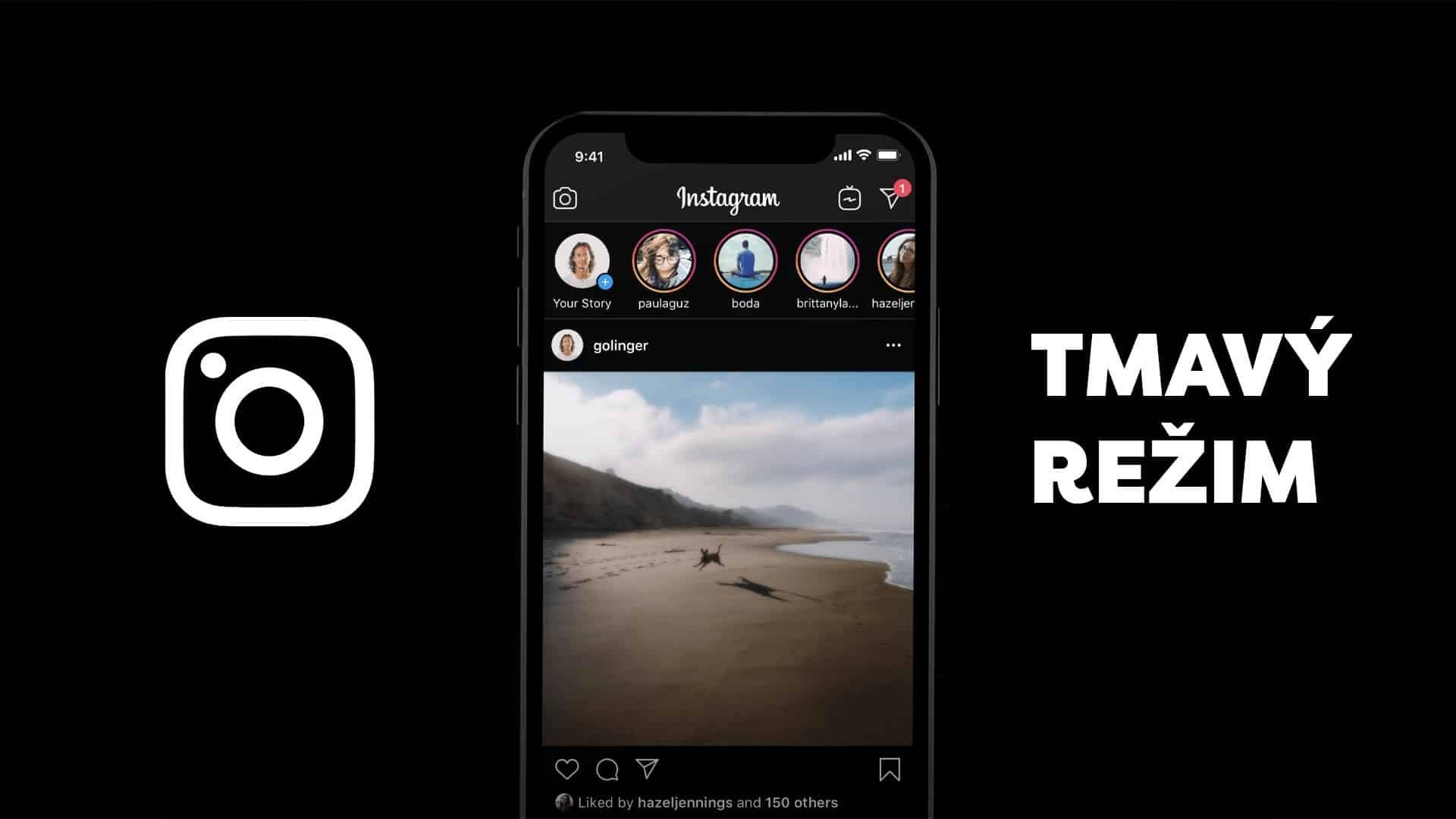 instagram tmavy rezim