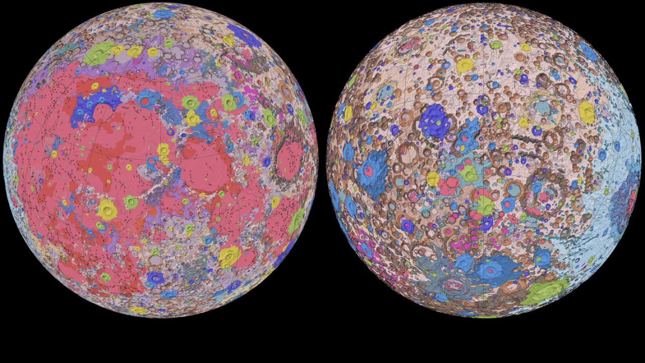 USGS mapa mesiac
