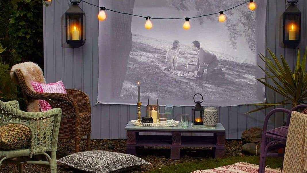 domáce kiná v záhradách