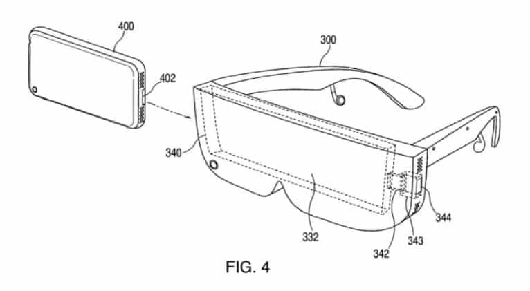 AR okuliare Apple patent
