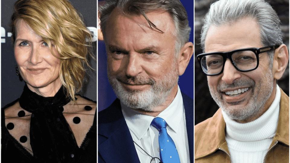 Sam Neill, Jeff Goldblum and Laura Dern Jurský svet