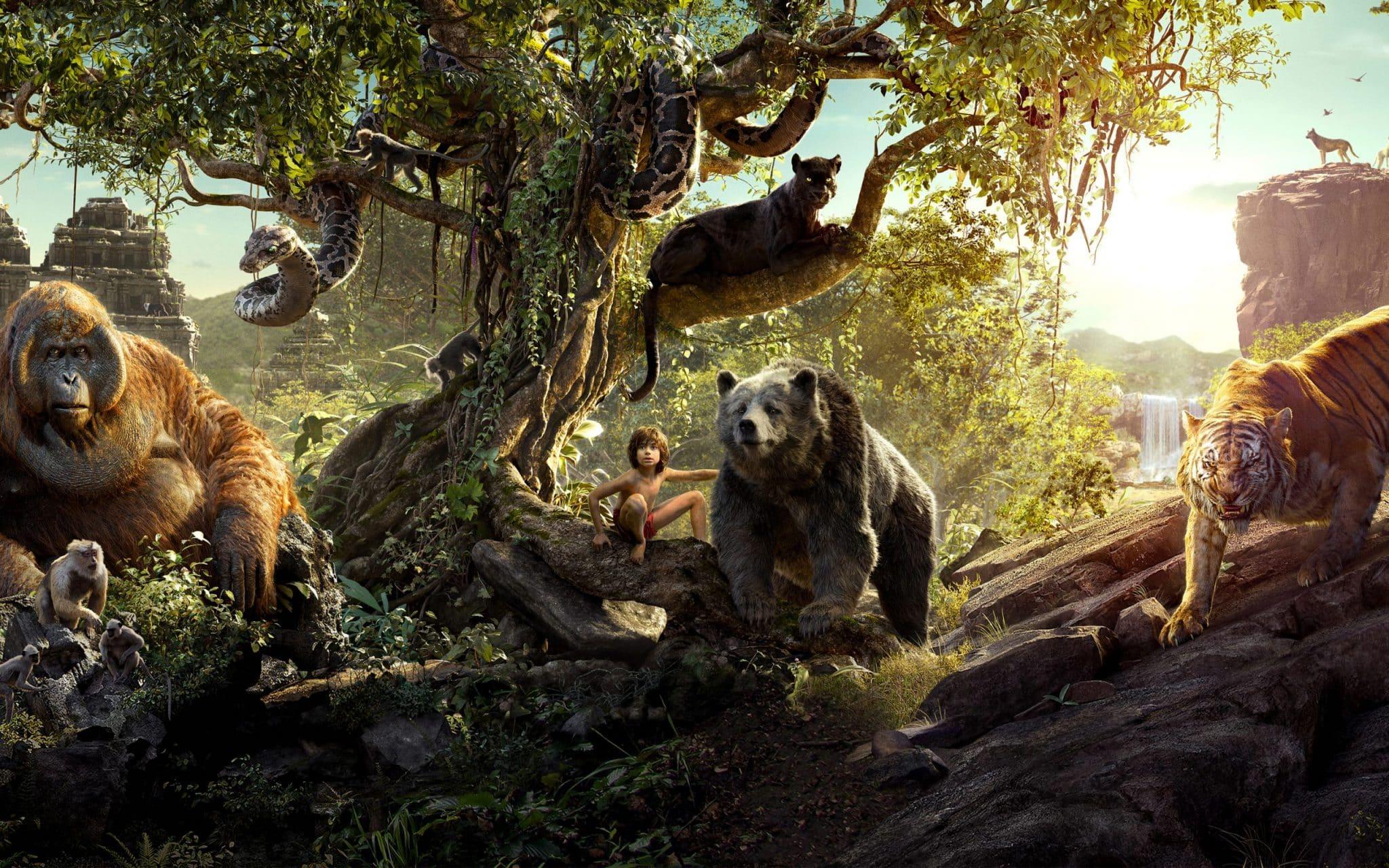 kniha džunglí 16 animovaných remakov od Disneyho
