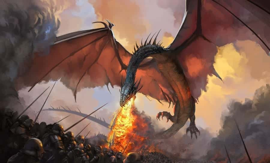 fire and blood drak