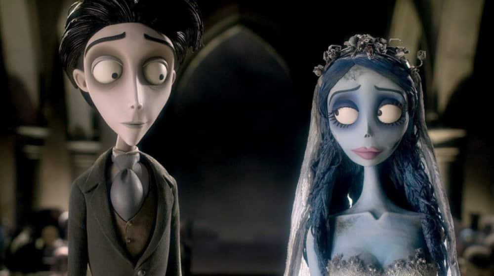 animované filmy Halloween - mrtva nevesta tima burtona