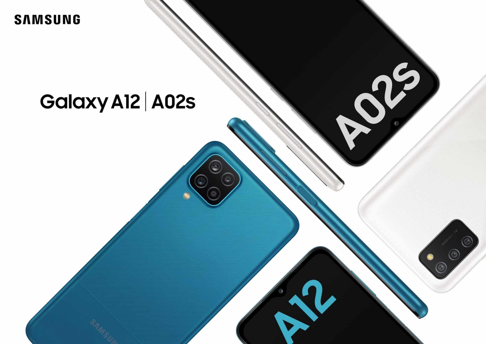 Galaxy A12 a Galaxy A02s