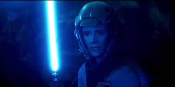 Leia Organa svetelný meč živí jediovia v seriáli the mandalorian