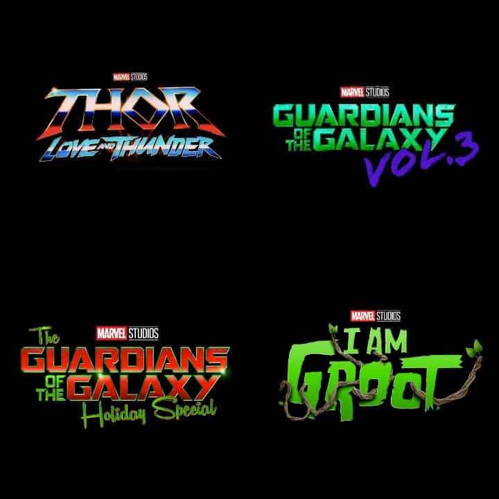 I am Groot, Thor: Love and Thunder, The Guardians of the Galaxy holiday special, Guardians of the Galaxy Vol. 3