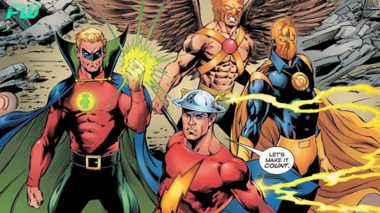 Pierce Brosnan Black Adam Justice Society