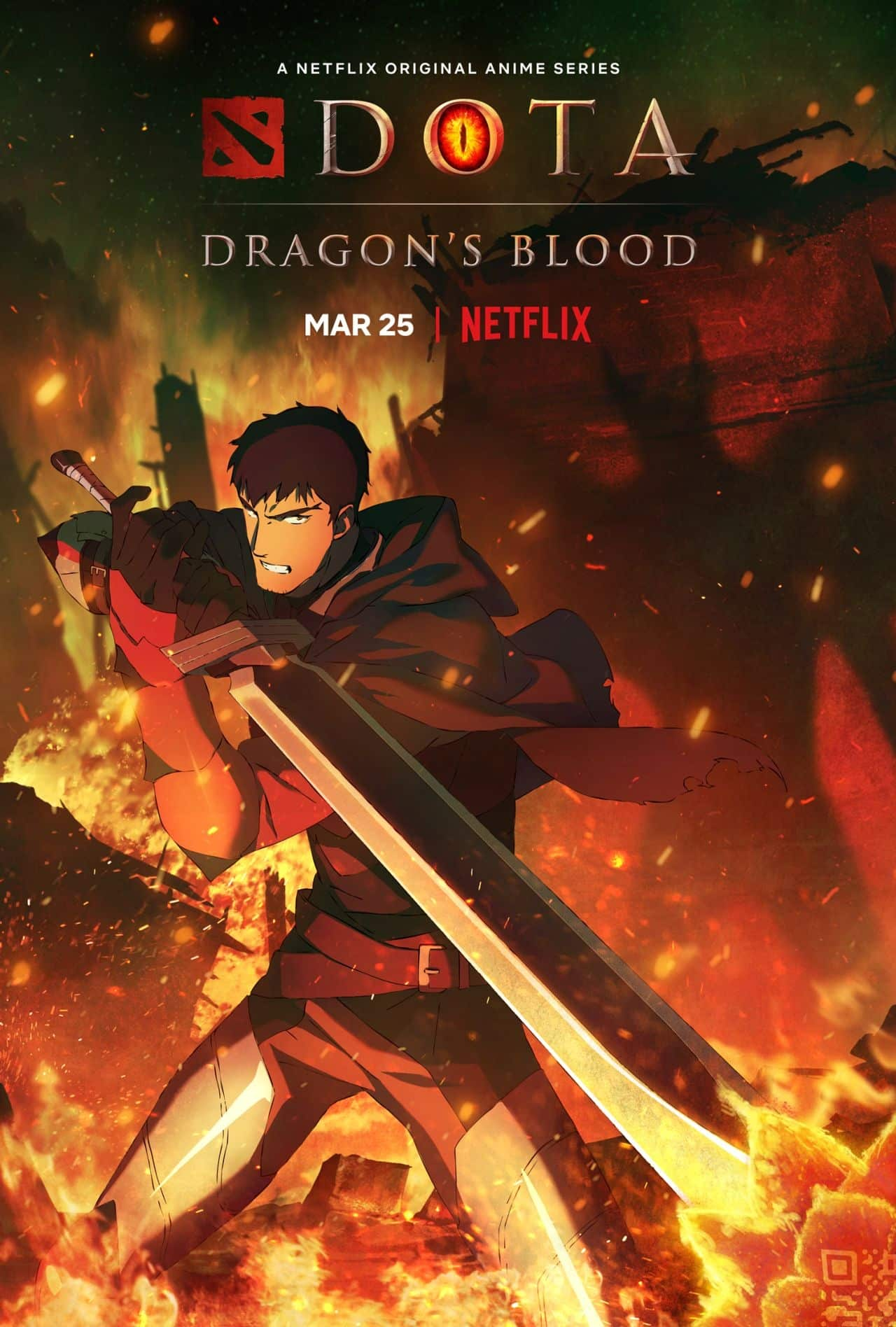 DOTA: Dragon's Blood trailer poster