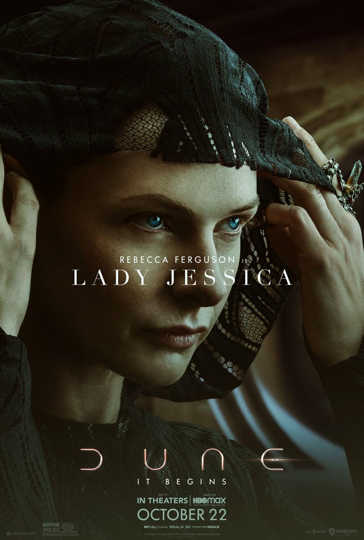 Rebecca Ferguson ako Lady Jessica