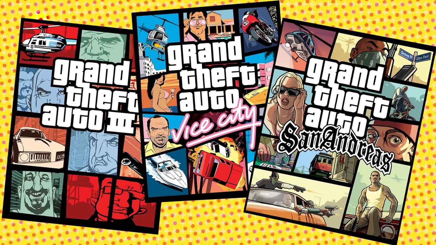 GTA III, Vice City, San Andreas