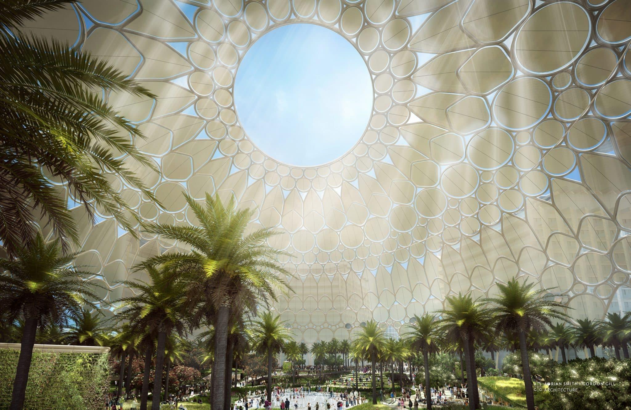 Al Wasl - kupola s najvacsiou sferickou projekciou na svete(vnútro)